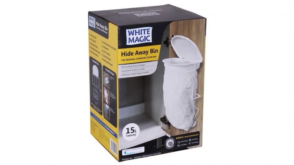 White Magic Hide Away Bin