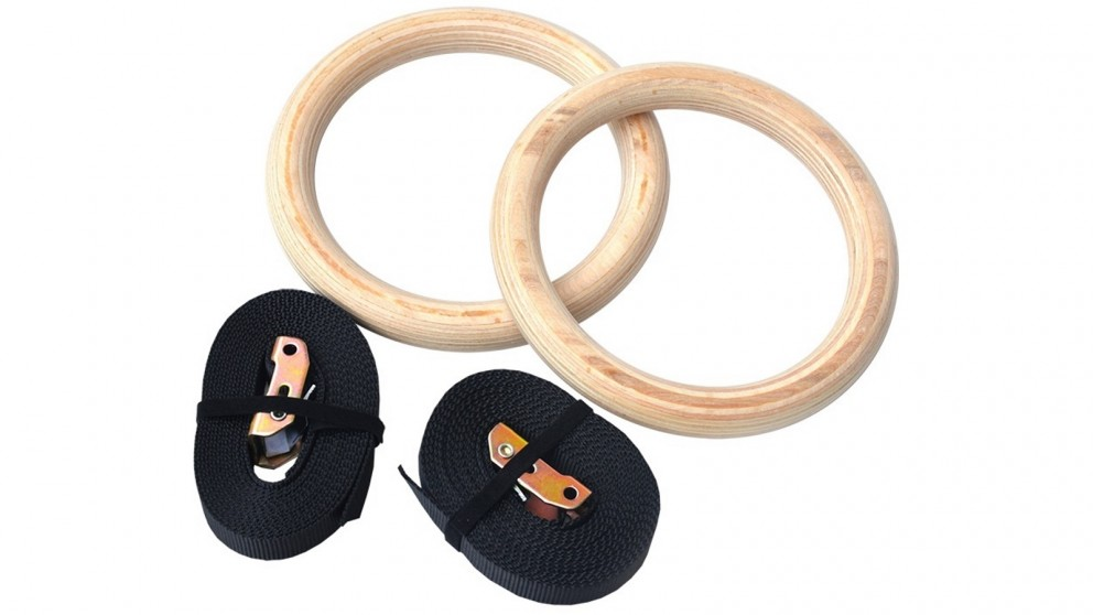 Serrano 32mm Wooden Gymnastic Rings Olympic Gym Rings Strength Training
