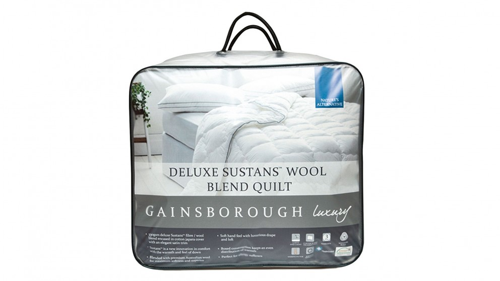 Gainsborough Luxury Deluxe Sustans Wool Double Quilt