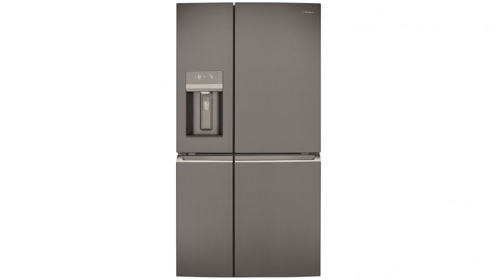 Westinghouse 680L French Door Fridge with Ice and Water Dispenser - Dark Stainless Steel
