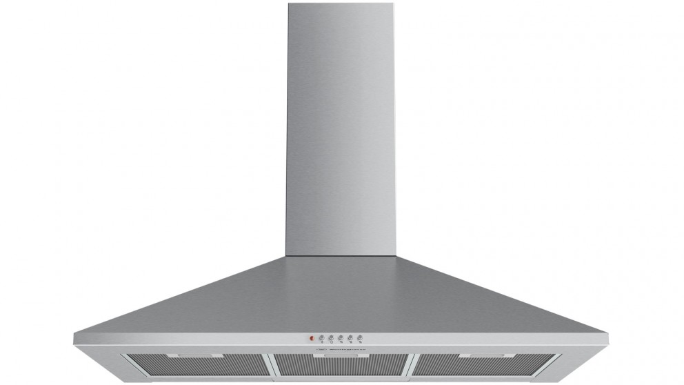 Westinghouse 900mm Canopy Rangehood with Push Button Control - Stainless Steel