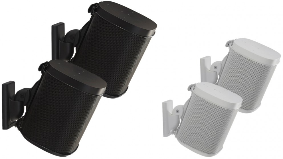 Sanus Pair of Wireless Speaker Wall Mount for Sonos ONE, PLAY:1 and PLAY:3