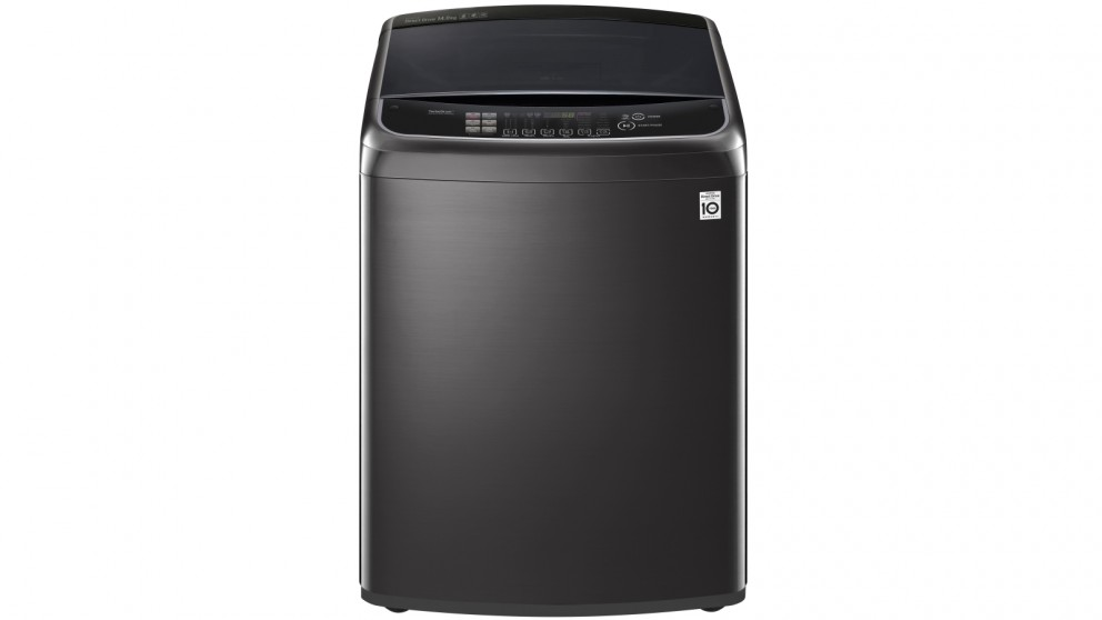 LG 14kg Top Load Washing Machine with TurboClean3D - Black Stainless Steel