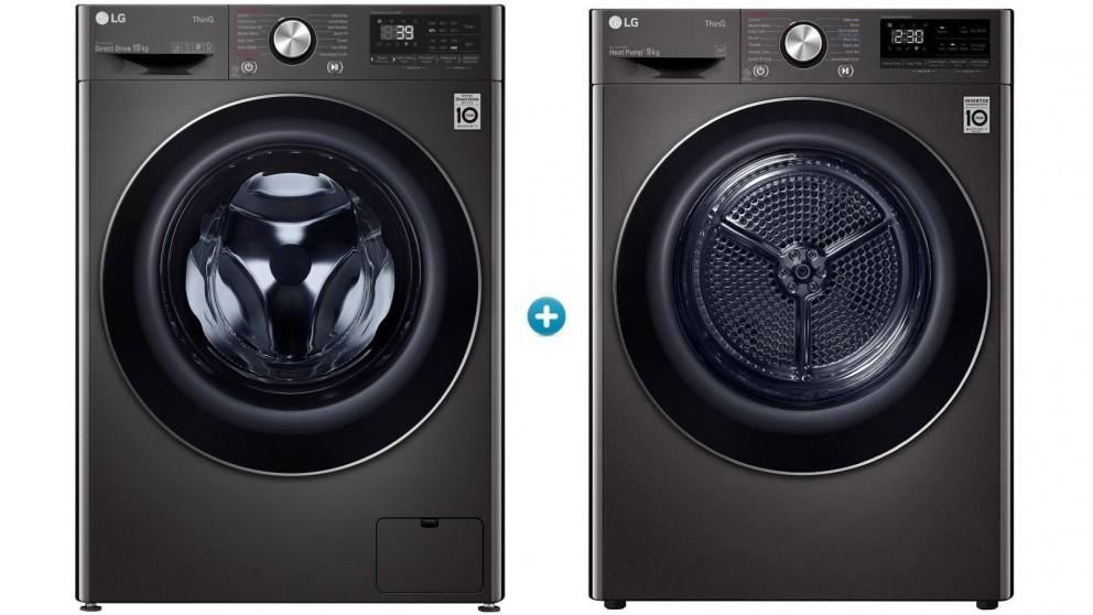 LG 10kg Front Load Washing Machine with 9kg Heat Pump Dryer