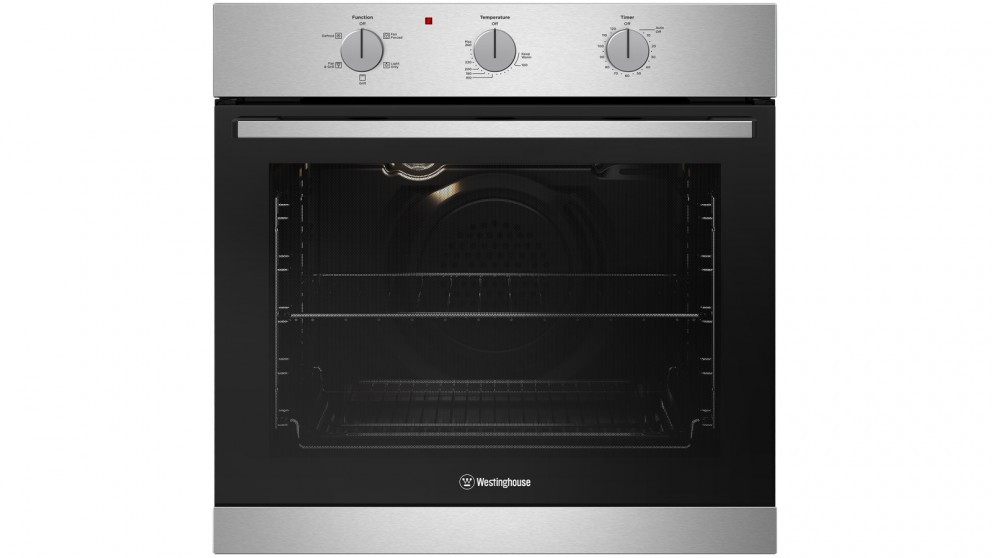 Westinghouse 600mm Stainless Steel Multifunction Oven with 2-Hour Auto-off Timer