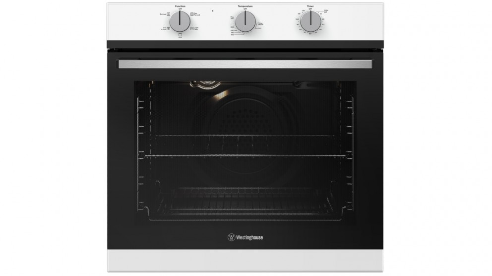 Westinghouse 600mm White Multifunction Oven with 2-Hour Auto-off Timer