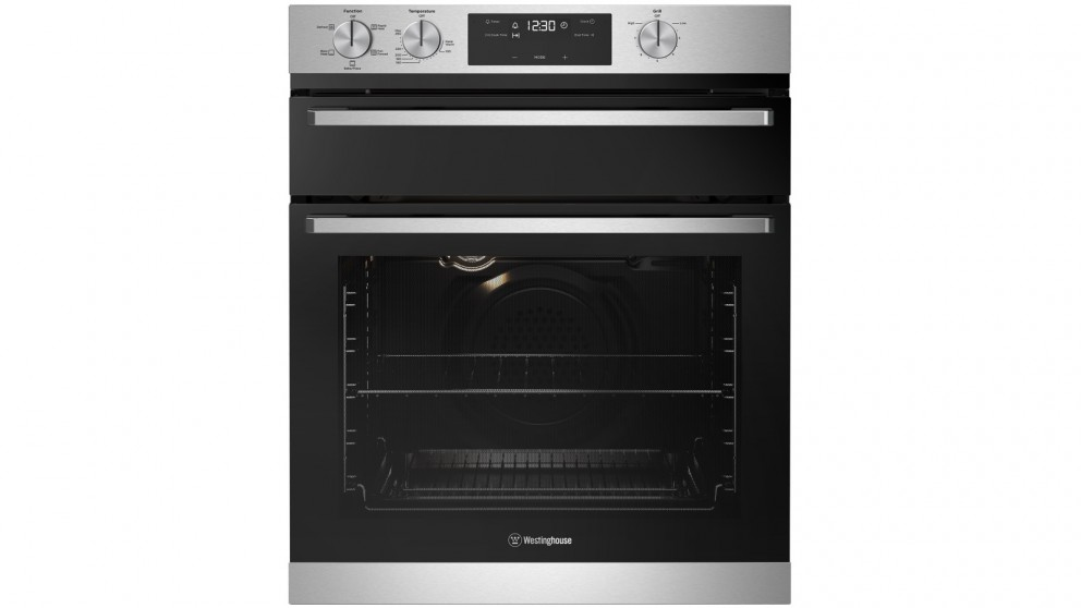 Westinghouse 600mm Stainless Steel Multifunction Underbench Oven with Separate Grill