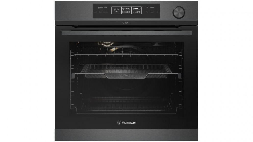 Westinghouse 600mm Dark Stainless Steel Pyrolytic Oven with Steam Assist Cooking