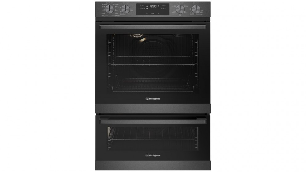 Westinghouse 600mm Dark Stainless Steel Multifunction Duo Oven with PyroClean