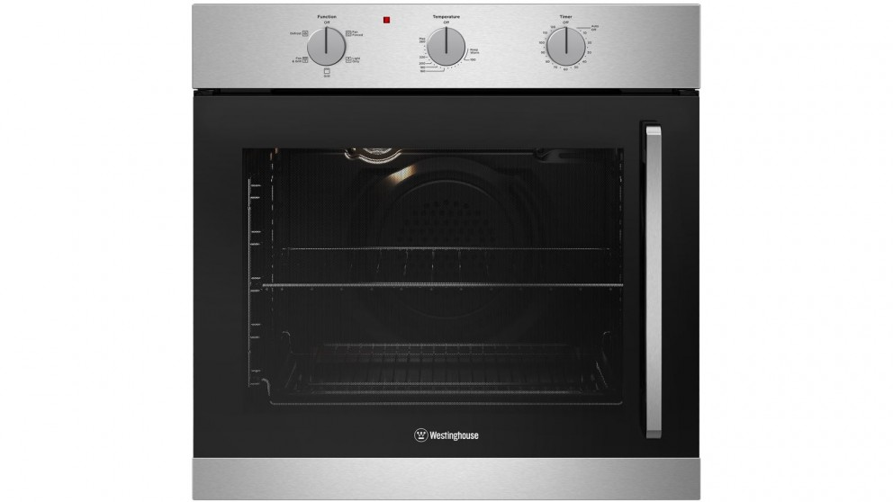 Westinghouse 600mm Stainless Steel Multifunction Oven with Left Side Opening Door