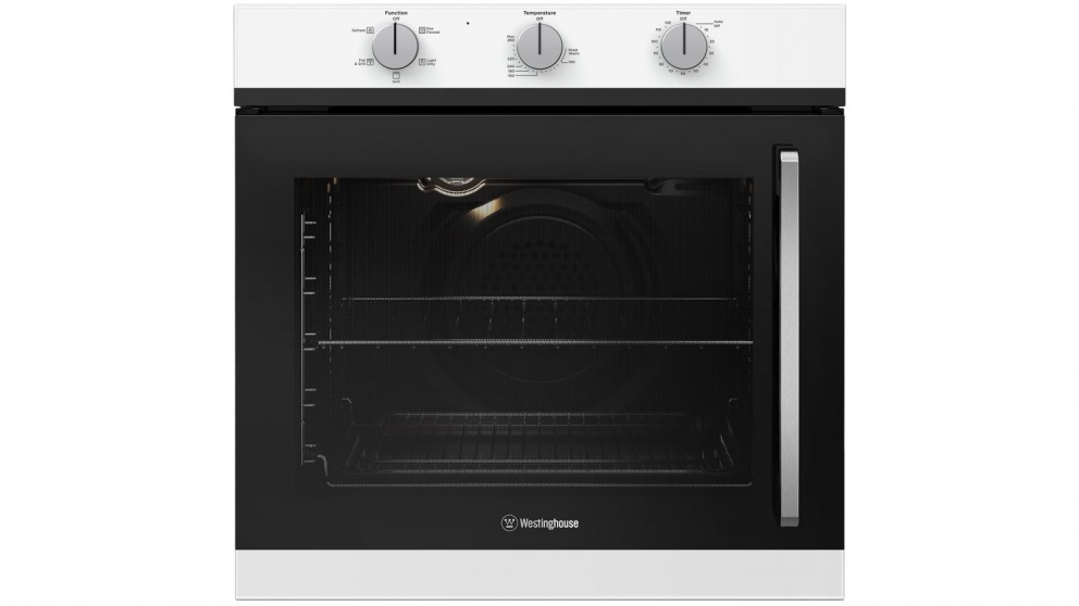 Westinghouse 600mm White Multifunction Oven with Left Side Opening Door