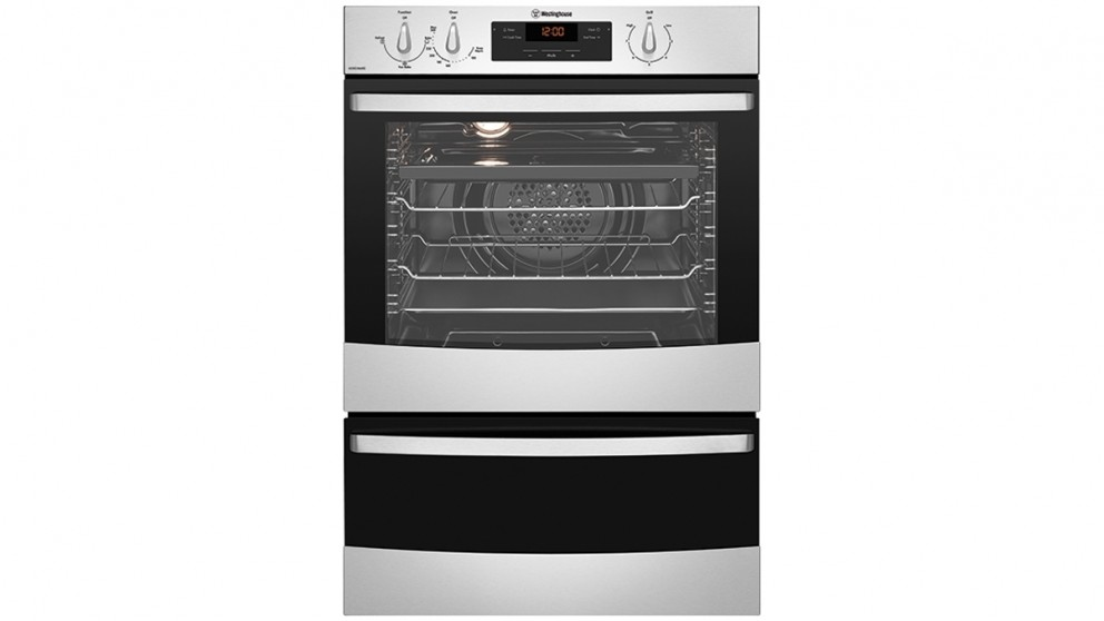 Westinghouse 600mm Stainless Steel Fan Forced Natural Gas Wall Oven with Separate Grill