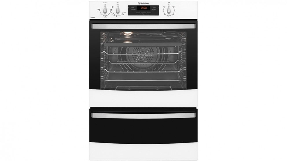 Westinghouse 600mm White Glass Fan Forced Natural Gas Oven