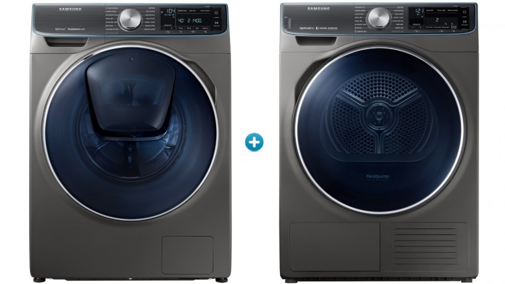 Samsung 8.5kg Front Load Washing Machine & 9kg Heat Pump Dryer Package