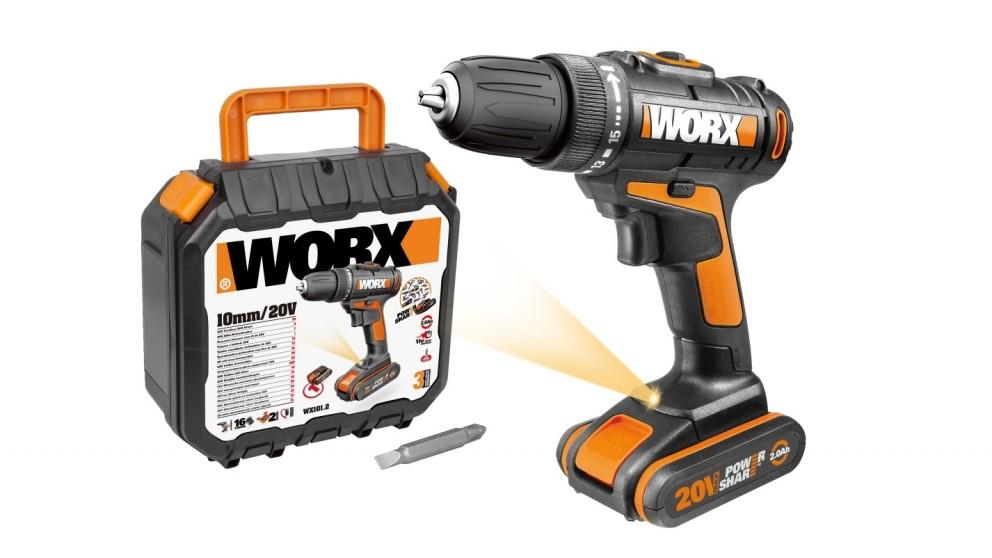 Worx Worxsaw 20V Drill Driver with 35-Piece Accessory Kit