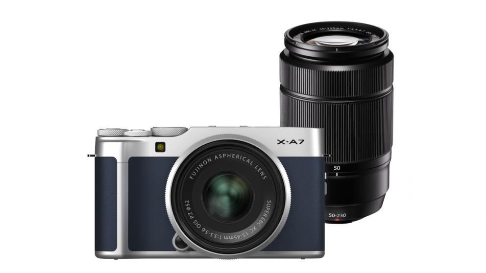 Fujifilm X-A7 Mirrorless Camera with XC15-45mm + XC50-230mm Lens Kit