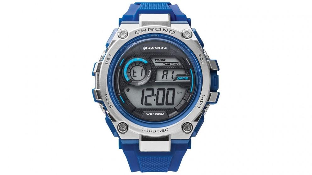 Maxum Bulk Digital Watch - Blue and Grey