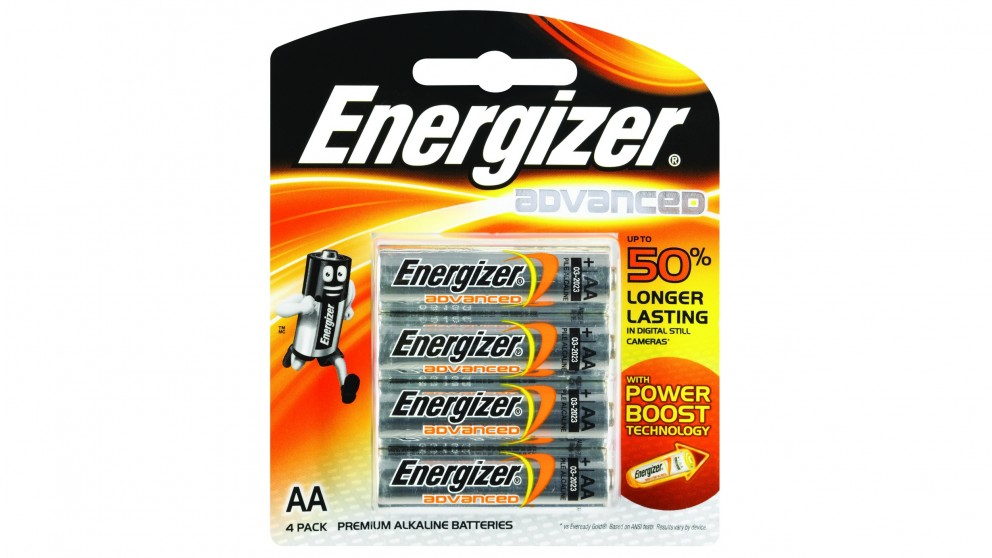 Energizer Advanced AA Batteries - 4 Pack