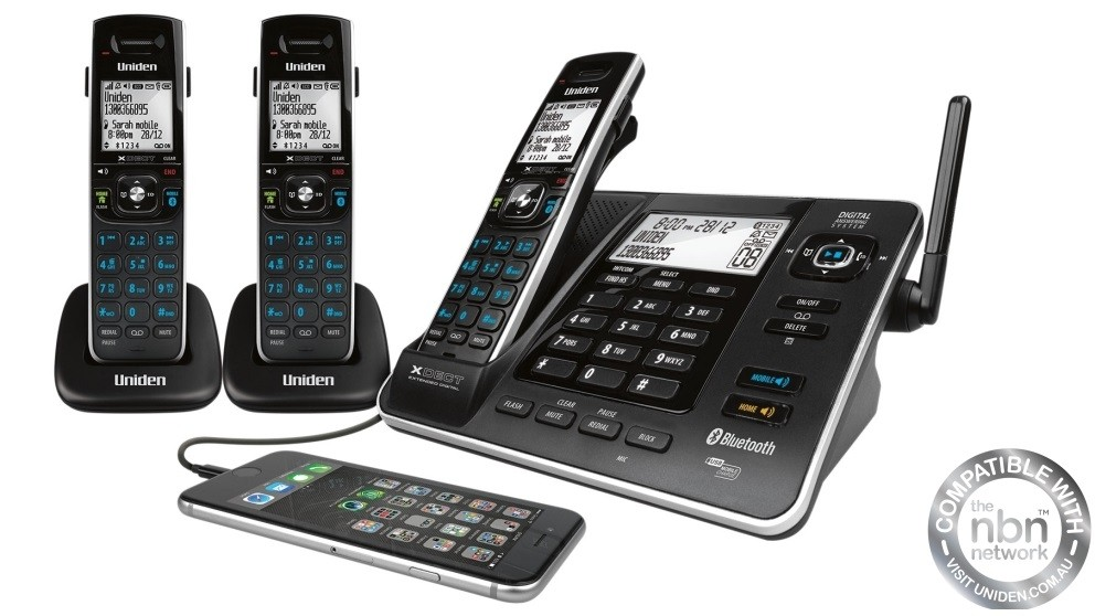 Uniden XDECT8355+2 Digital Cordless Phone System