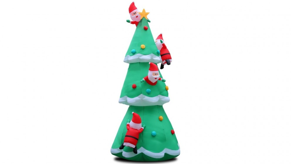 Jingle Jollys 5m Christmas Inflatable Santa Tree