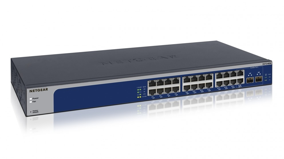 Netgear 24-Port 10-Gigabit/Multi-Gigabit Ethernet Smart Managed Plus Switch
