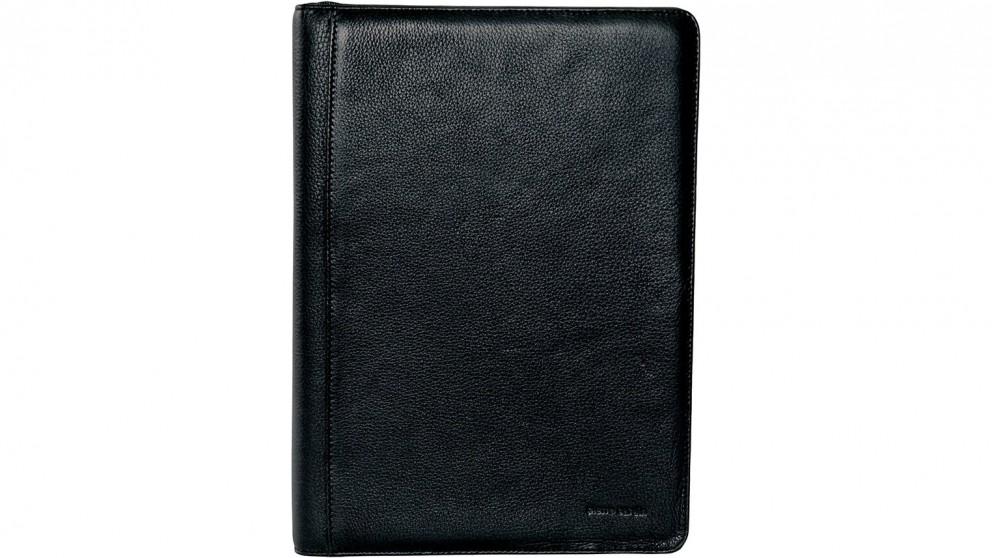 Leather A4 Business Compendium/Folio - Black