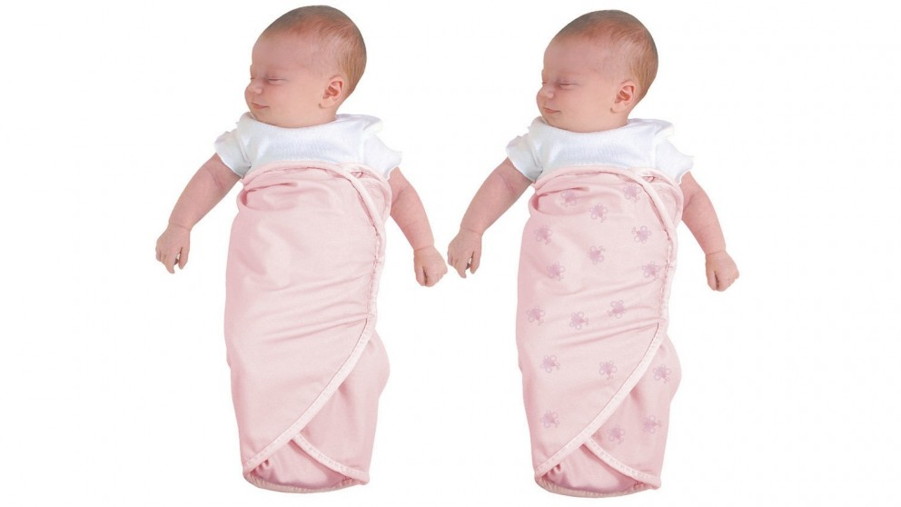 The First Years 2-Piece Easy Wrap Swaddlers - Pink Butterfly