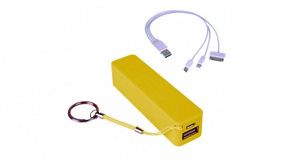 Precision 2200mAh Power Bank - Yellow