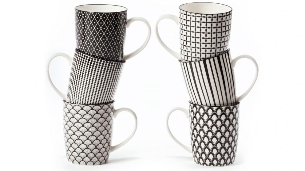 Cooper & Co. Ceramic Ava Mugs - Set of 6