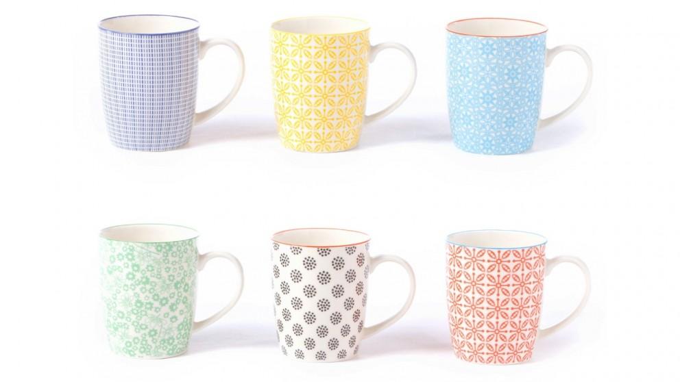 Cooper & Co. Ceramic Viola Mugs - Set of 6