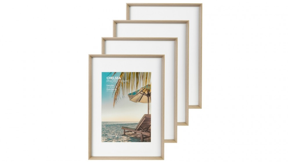 Cooper & Co. Premium 4 Pack Gallery Photo Frame Set - Oak