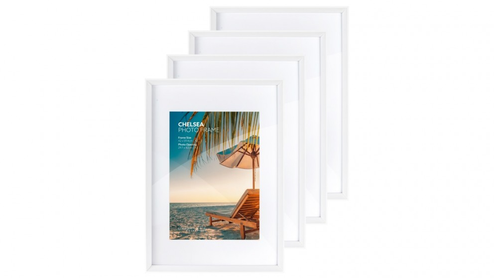 Cooper & Co. Premium 4 Pack Gallery Photo Frame Set A2 Mat To A3 - White