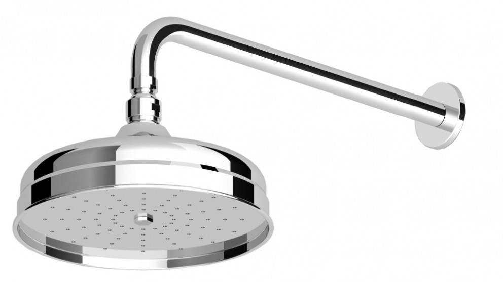 Zucchetti Delfi Showerhead and Wall Arm