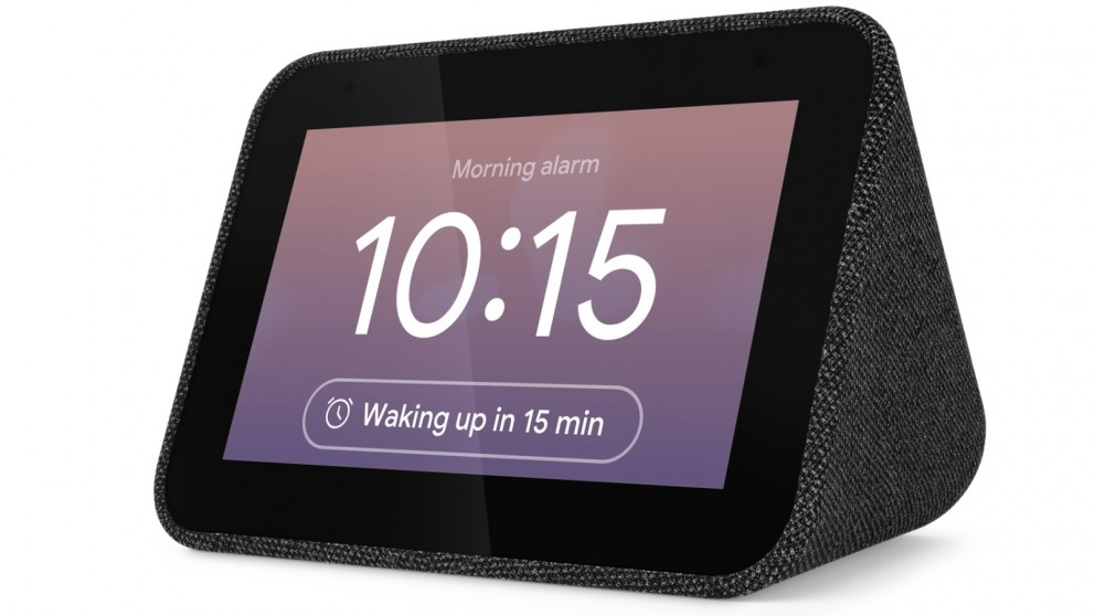 Lenovo Smart Clock with the Google Assistant - Black Fabric