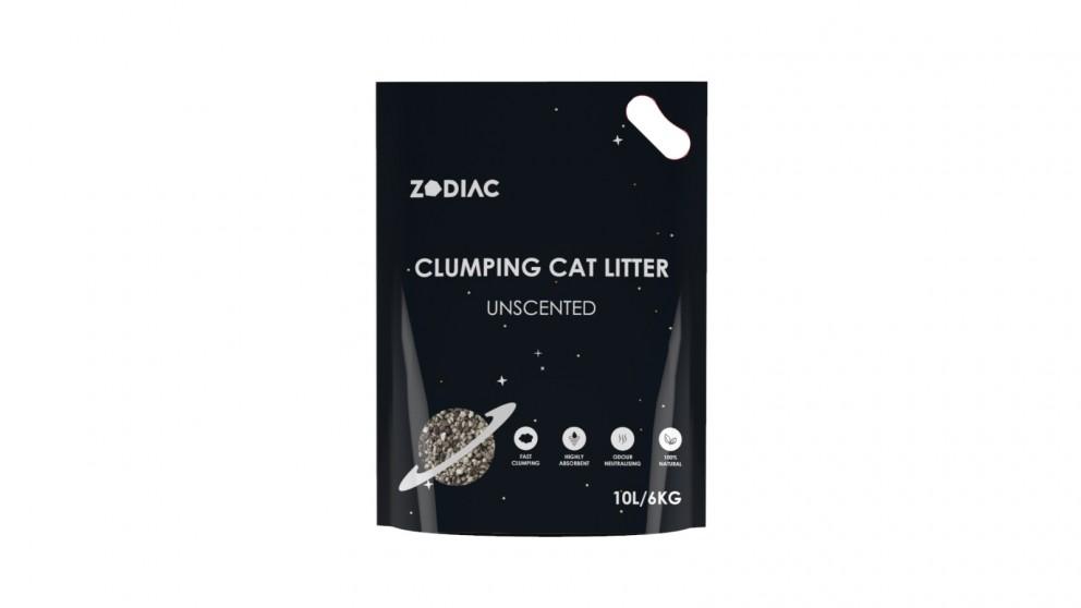 Zodiac Clumping Cat Litter 10 Liters/6 kg - Unscented