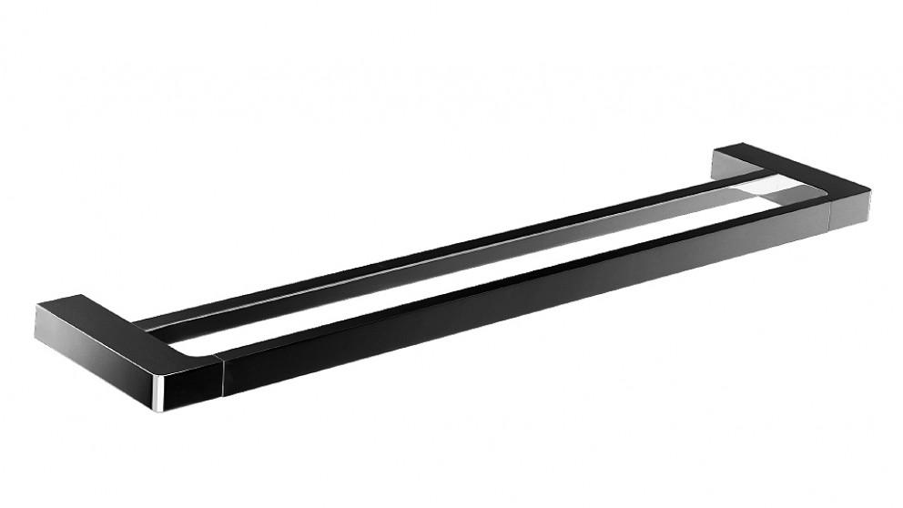 Arcisan Zara 80cm Matte Black Double Towel Rail