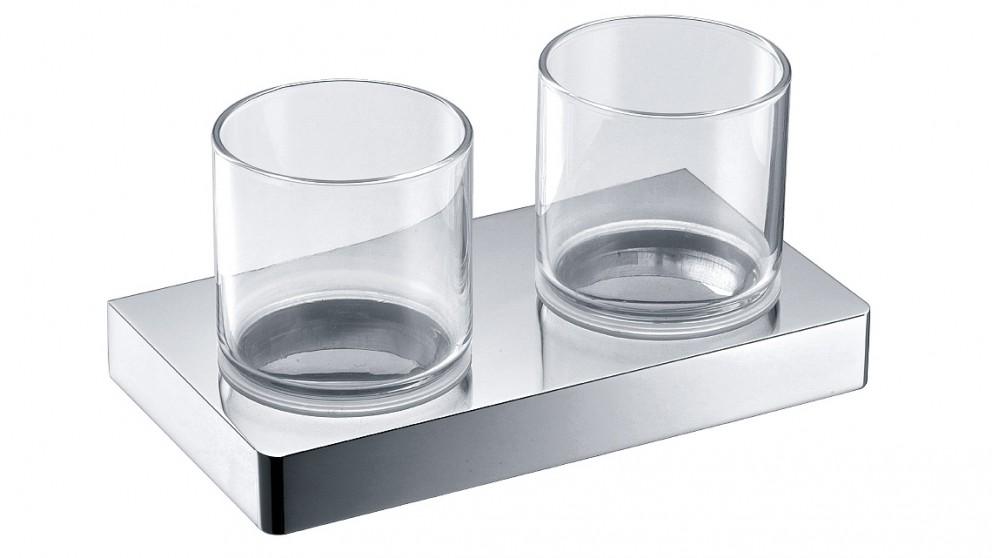 Arcisan Zara Chrome Double Glass Holder