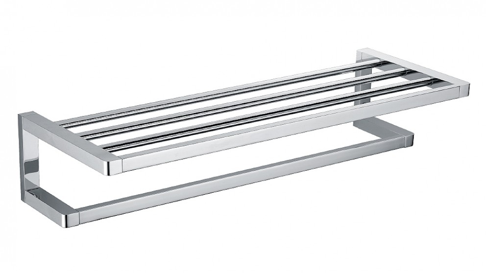 Arcisan Zara Chrome 60cm Towel Rack with Rail
