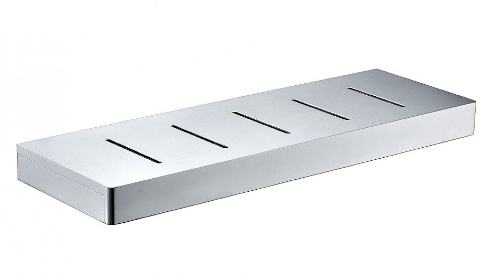 Arcisan Zara Chrome 40cm Shelf with Drain Holes