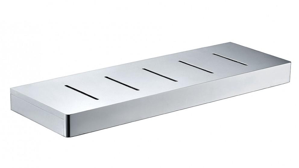 Arcisan Zara Chrome 40cm Shelf with Drain Holes