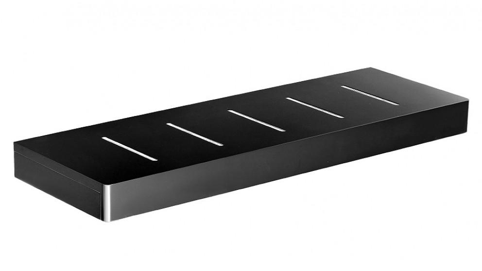 Arcisan Zara Matte Black 40cm Shelf with Drain Holes
