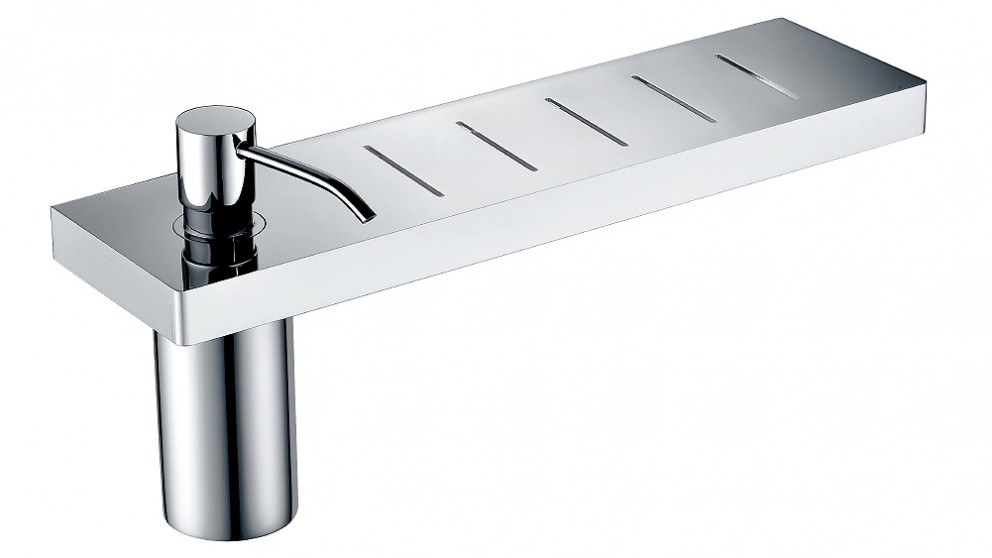 Arcisan Zara Chrome Shelf with Soap Dispenser