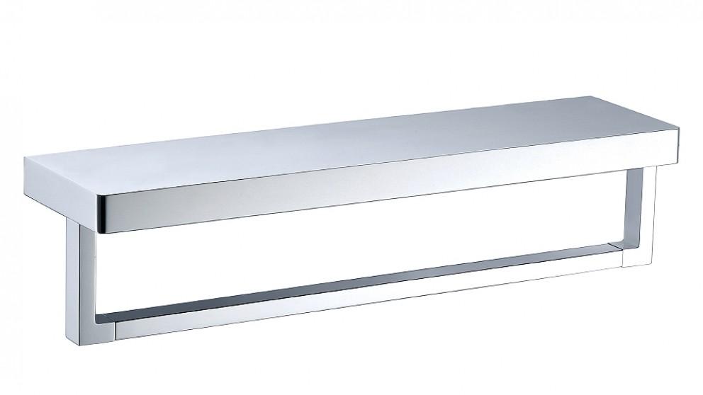 Arcisan Zara Chrome Shelf with Towel Rail