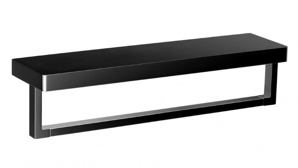 Arcisan Zara Matte Black Shelf with Towel Rail