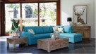 Sienna Fabric Corner Lounge with Chaise