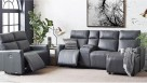 Marli 3-Seater Powered Leather Recliner Sofa with Chaise