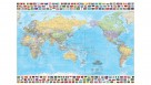 Hema Maps World and Flags Supermap Laminated Tubed 1410x990mm
