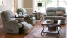 Bunbury 3-Piece Fabric Recliner Lounge Suite