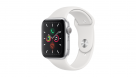 Apple Watch Series 5 44mm Silver Aluminum Case with White Sport Band - GPS