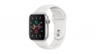 Apple Watch Series 5 40mm Silver Aluminum Case with White Sport Band - GPS